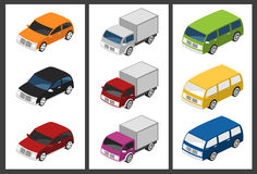 Isometric car set Stock Photography