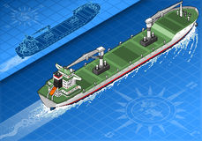 Isometric cargo ship Stock Images