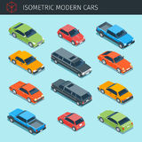 Isometric cars collection royalty free illustration