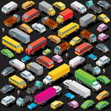 Isometric Cars Parking. Vector Image Royalty Free Stock Photography