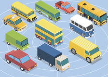 Isometric  cars set Stock Image