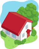Isometric Cartoon House Royalty Free Stock Images