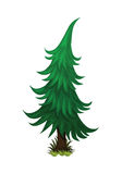 Isometric Cartoon Spruce Fir Tree - Element for Tileset Map, Landscape Design or Game Object Set vector illustration