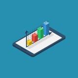 Isometric chart, diagram tablet Stock Image