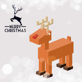 Isometric christmas reindeer design Stock Images