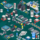 Isometric Circuit Board Composition Stock Photos