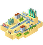 Isometric city Stock Image