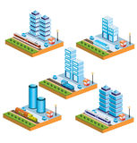 Isometric city Royalty Free Stock Photos