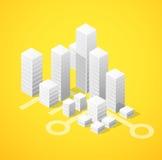 Isometric city block Stock Photography