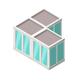 Isometric City Building Vector. Isometry Stock Image