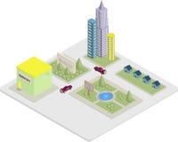 Isometric City Buildings Stock Photo