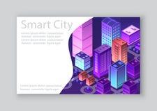 Isometric City Business Card Stock Photo