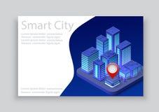 Isometric City Business Card Stock Photos