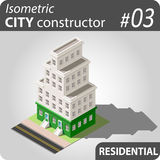 Isometric city constructor - 03 Royalty Free Stock Photos