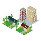 Isometric city 3d. Icon  illustration graphic design Stock Photo