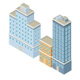 Isometric city 3d. Icon  illustration graphic design Stock Photography