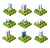 Isometric city icons Stock Image