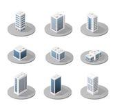 Isometric city icons Stock Photo