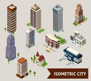 Isometric City   Icons Royalty Free Stock Images