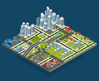 Isometric City Illustration Royalty Free Stock Photography