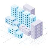 Isometric city illustration Stock Image
