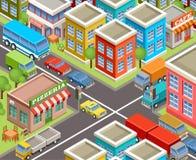 Isometric city. Royalty Free Stock Photo