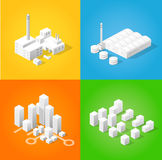 Isometric city of industry Royalty Free Stock Images
