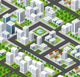 Isometric city landscape Royalty Free Stock Photo