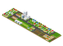 Isometric city landscape Stock Photography