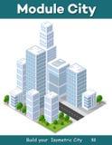 Isometric city landscape Royalty Free Stock Photo