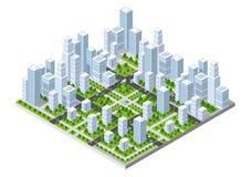 Isometric city landscape Stock Photos