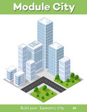 Isometric city landscape Royalty Free Stock Photography