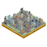 Isometric City Map Stock Photography