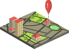 Isometric city map concept Stock Photography
