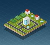 Isometric city map Royalty Free Stock Photos