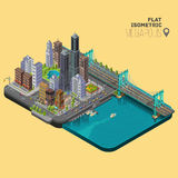 Isometric city,megapolis concept stock illustration