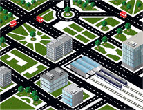 Isometric city Stock Photography
