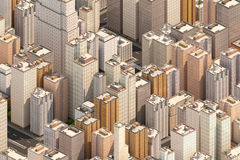 Isometric city scape. High buildings. Stock Image