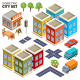 Isometric city set. Stock Photography