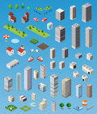 Isometric city set Royalty Free Stock Images