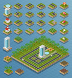 Isometric city set Royalty Free Stock Images