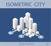 The isometric city with skyscraper vector illustration