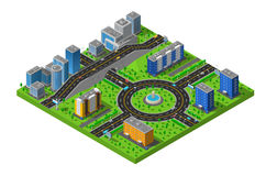 Isometric City Street Composition Poster Stock Photography