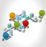 Isometric city Stock Photography