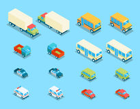 Isometric city transport 3d vector icons set Royalty Free Stock Photography