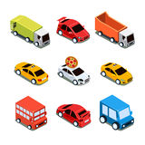 Isometric City Transport Vector Illustration Set Stock Images