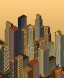 Isometric city- vector Stock Images