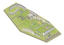Isometric city. Vector  3D isometric color city Stock Photo