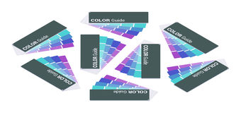 Isometric color guide Stock Image