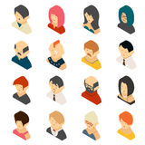 Isometric Colored User Icon Designs Stock Photos